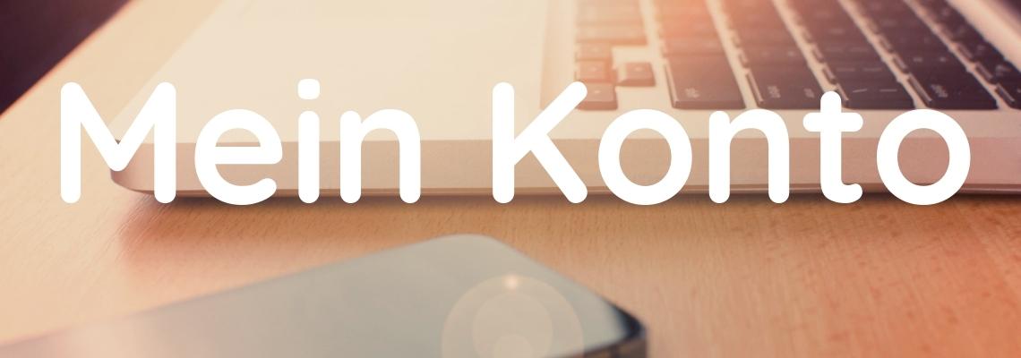 Website Header Mein Konto