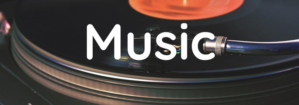 Website Header Music