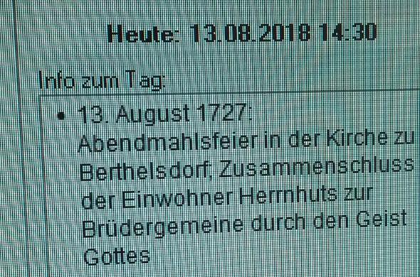Bildschirm Herrnhut